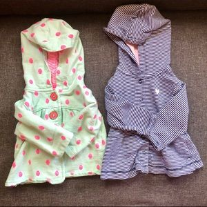 Infant hooded sweatshirt jackets